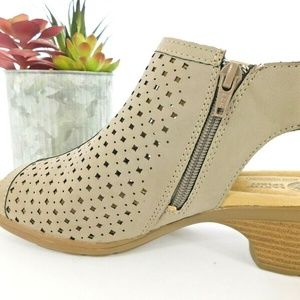 Earth Spirit Shoes - Earth Spirit Taupe Peeptoe Ankle Bootie Sandal 8.5